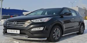 Hyundai Santa Fe 2012- Защита переднего бампера  d63 ( секции) / d63 (дуга)  HSFZ-001216